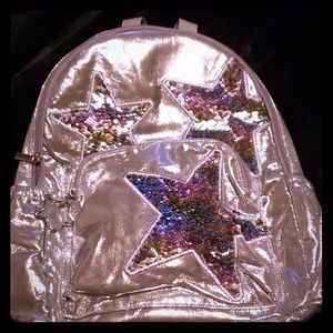 NWT!! Claire's Super Shimmer Signature Backpack